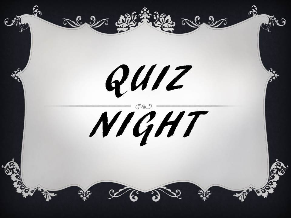 Bamburgh Quiz Night 28th January 7.30pm